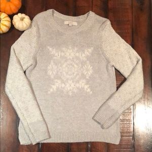 Loft snowflake sweater